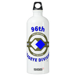 "96TH INFANTRY DIVISION ""DEADEYE"" DIVISION ALUMINUM WATER BOTTLE"