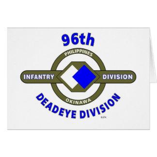 "96TH INFANTRY DIVISION ""DEADEYE"" DIVISION CARD"