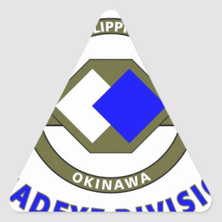 """96TH INFANTRY DIVISION """"DEADEYE"""" DIVISION TRIANGLE STICKER"""