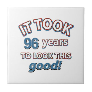 96th year birthday designs ceramic tile