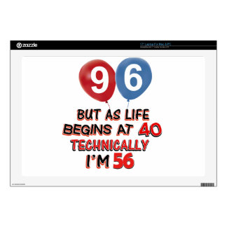 """96th year birthday designs skins for 17"""" laptops"""