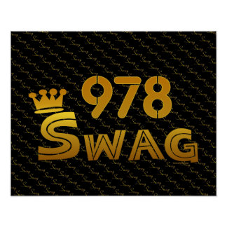 978 Area Code Swag Posters