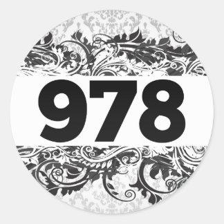 978 PEGATINA REDONDA