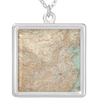 9798 Dominion Chinese, Japanese Empire Silver Plated Necklace