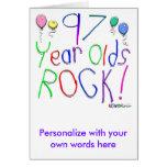 ¡97 años de la roca! tarjeta de felicitación