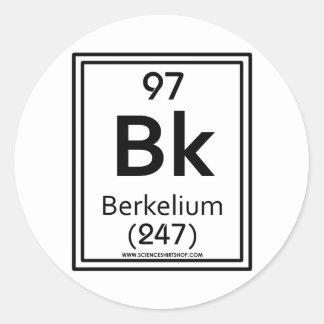 97 Berkelium Classic Round Sticker