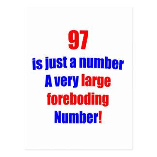 97 es apenas un número tarjeta postal