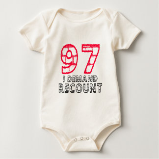 97 I Demand Recount Birthday Designs Rompers