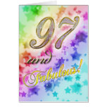 97.o cumpleaños para alguien fabuloso felicitacion