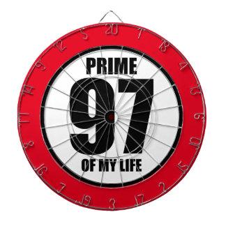 97 - prime of my life dart board