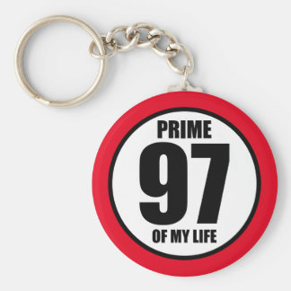 97 - prime of my life keychain