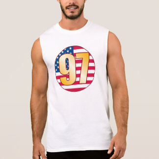 97 USA Gold Sleeveless Shirt