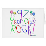 97 Year Olds Rock ! Greeting Card