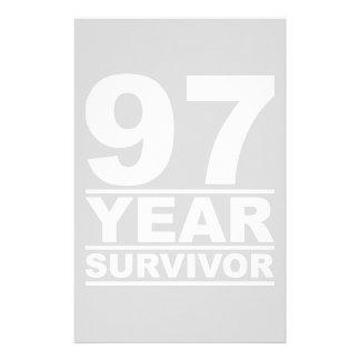 97 year survivor stationery