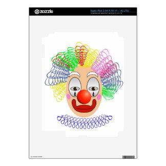 97Clown Head_rasterized Decal For iPad 3