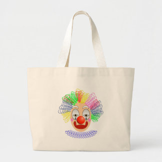 97Clown Head_rasterized Large Tote Bag