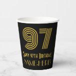 "[ Thumbnail: 97th Birthday: Art Deco Inspired Look ""97"" & Name ]"
