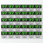 """[ Thumbnail: 97th Birthday - Nerdy / Geeky Style """"97"""" and Name Wrapping Paper ]"""