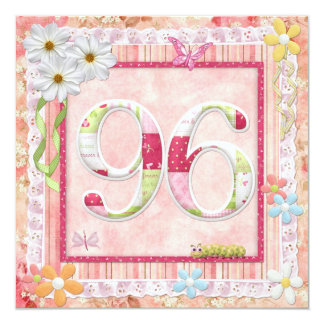 97th birthday party scrapbooking style card