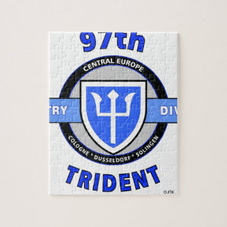"97TH INFANTRY DIVISION ""TRIDENT"" DIVISION JIGSAW PUZZLE"