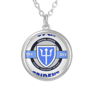 "97TH INFANTRY DIVISION ""TRIDENT"" DIVISION SILVER PLATED NECKLACE"
