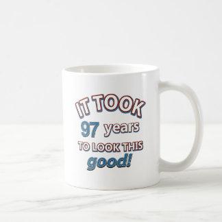 97th year birthday designs coffee mug