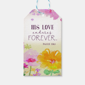 982.his love endures forever gift tags