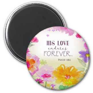982.his love endures forever magnet