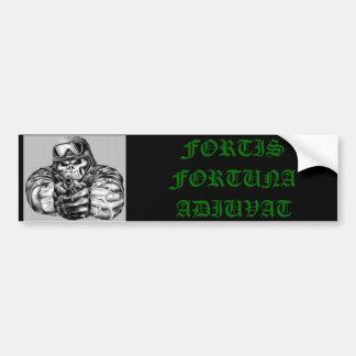 986692592_l, FORTIS FORTUNA ADIUVAT Car Bumper Sticker