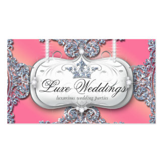 989 Fashion Jewelry Wedding Elegant Crown Glitter Double-Sided Standard Business Cards (Pack Of 100)