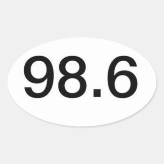 98,6 PEGATINA OVALADA