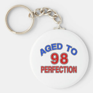 98 Aged To Perfection Basic Round Button Keychain