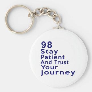 98 American Legend Birthday Designs Basic Round Button Keychain