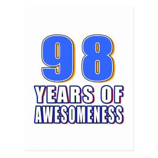 98 años de Awesomeness Tarjetas Postales