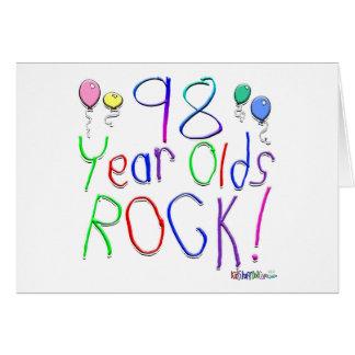 ¡98 años de la roca! tarjeta