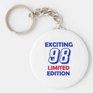 98 Birthday Design Basic Round Button Keychain