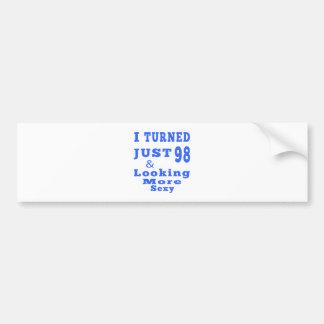 98 birthday designs bumper sticker