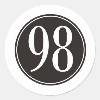 98 Black Circle Round Sticker