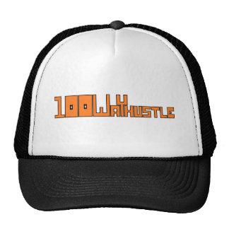 #98 (black outlines) mesh hats