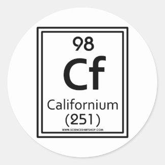 98 Californium Classic Round Sticker
