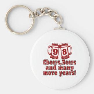 98 Cheers Beer Birthday Basic Round Button Keychain