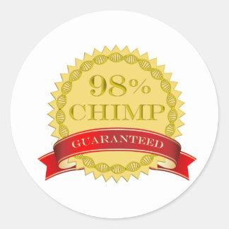 98% Chimp - Guaranteed Classic Round Sticker
