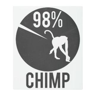 98% chimp metal print