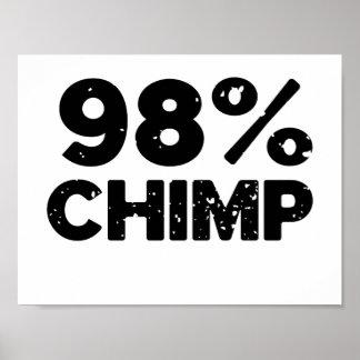 98 Chimp Poster