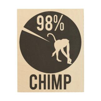 98% chimp wood print