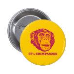 98% Chimpanzee 2 Inch Round Button