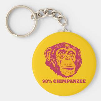98% Chimpanzee Basic Round Button Keychain