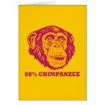 98% Chimpanzee Greeting Card