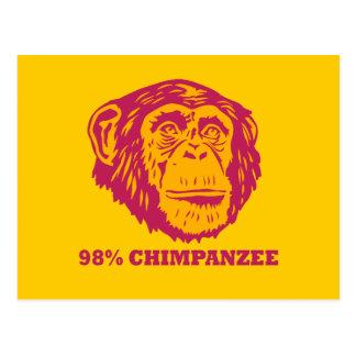 98% Chimpanzee Postcard