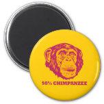 98% Chimpanzee Refrigerator Magnet